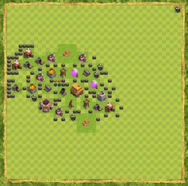 Base Farming Coc Th 4 Terbaru 9