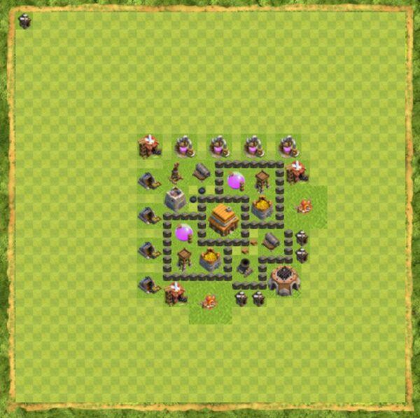 Base Hybrid Coc Th 4 Terbaru 10