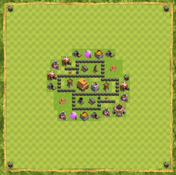 Base War Coc Th 4 Terbaru 1
