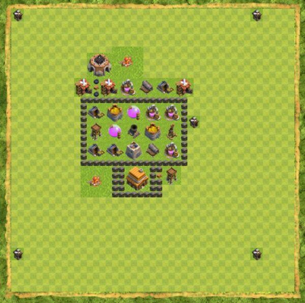Base War Coc Th 4 Terbaru 10