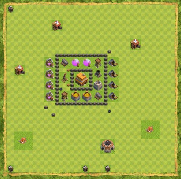 Base War Coc Th 4 Terbaru 5