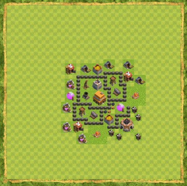 Base War Coc Th 4 Terbaru 6