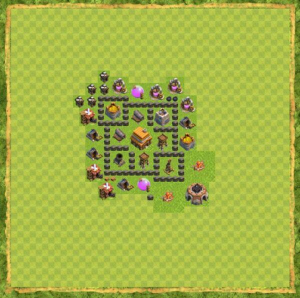 Base War Coc Th 4 Terbaru 7
