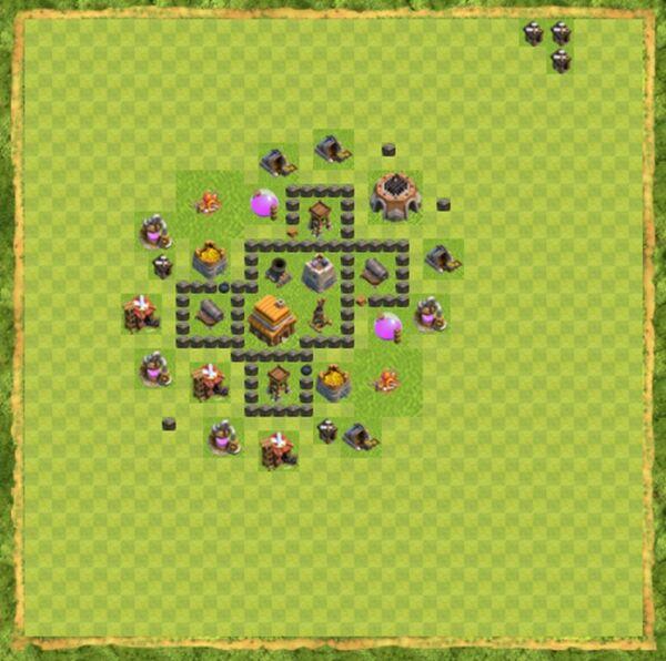 Base War Coc Th 4 Terbaru 9