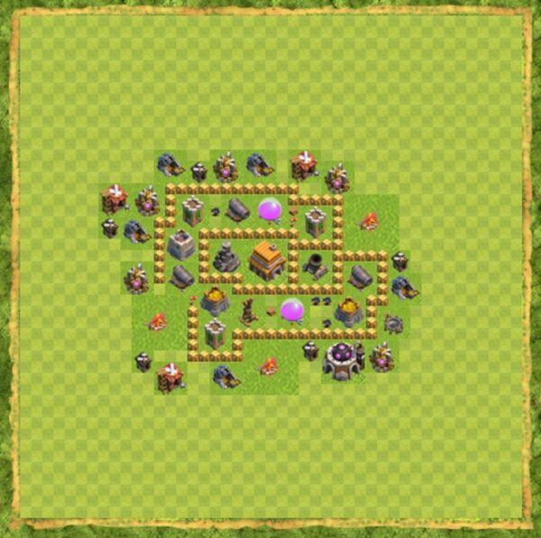 Base War Coc Th 5 Terbaru 2