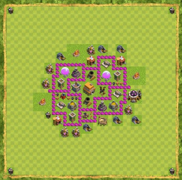 Base Defense Coc Th 6 Terbaru 1
