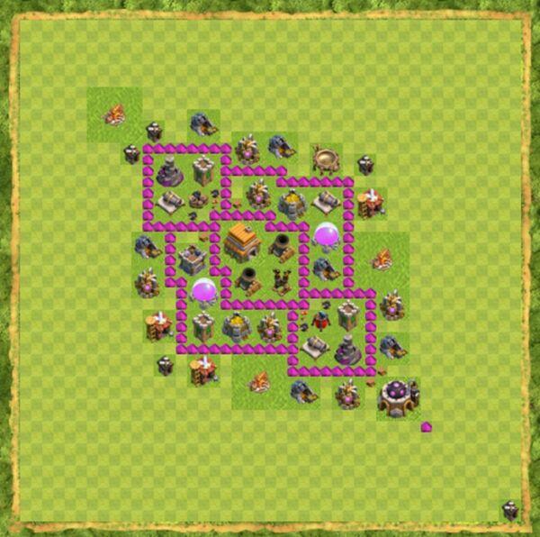 Base Defense Coc Th 6 Terbaru 10