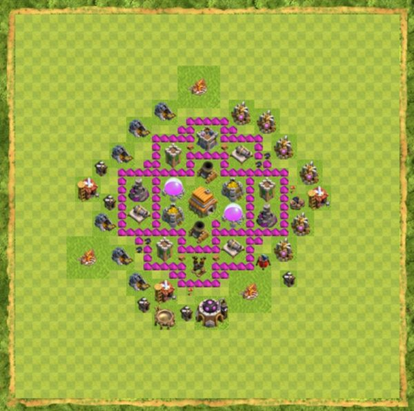 Base Defense Coc Th 6 Terbaru 2