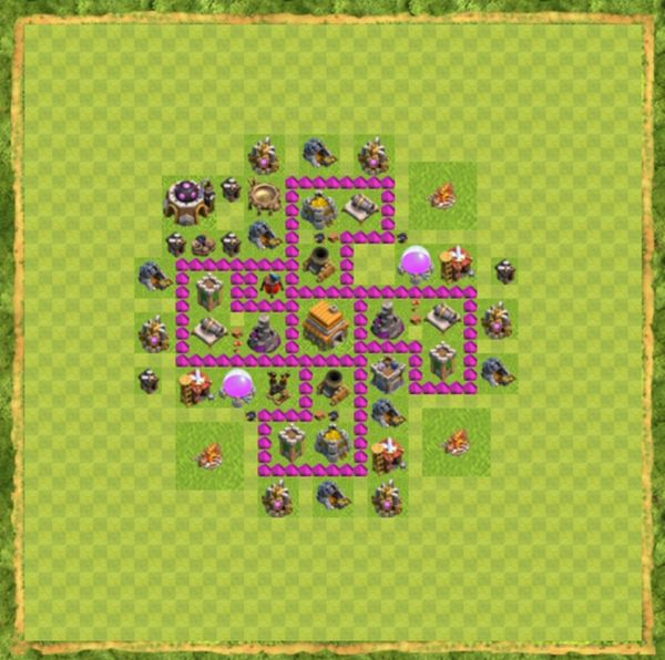 Base Defense Coc Th 6 Terbaru 6