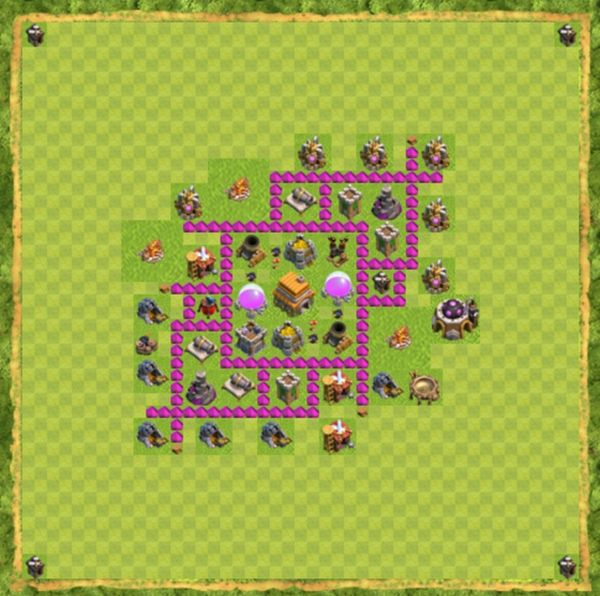Base Hybrid Coc Th 6 Terbaru 8