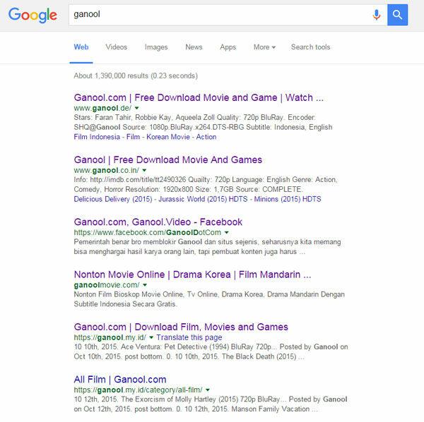 Ganool Resmi Ditutup Banyak Muncul Ganool Lain 1
