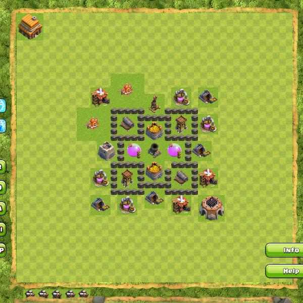 Base Farming Coc Th 4 23