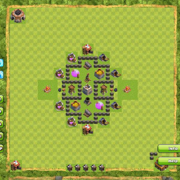 Base Farming Coc Th 4 24