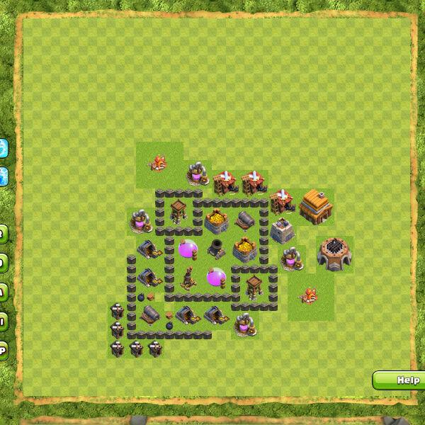 Base Farming Coc Th 4 26