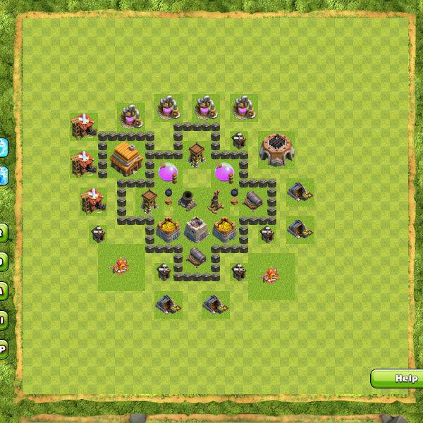 Base Farming Coc Th 4 28