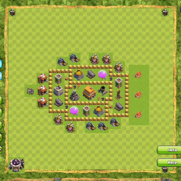 Base Defense Coc Th 5 10