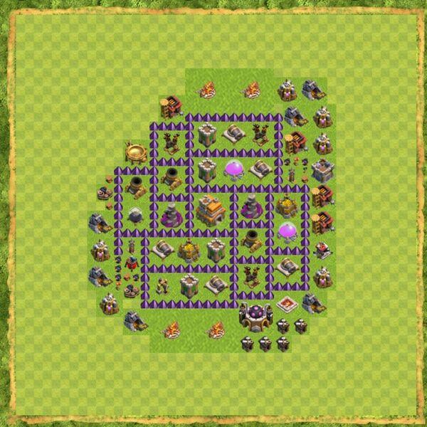 Base Defense Coc Th 7 Terbaru 10