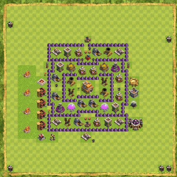 Base Defense Coc Th 7 Terbaru 13
