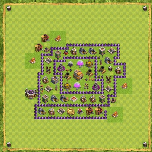 Base Defense Coc Th 7 Terbaru 6