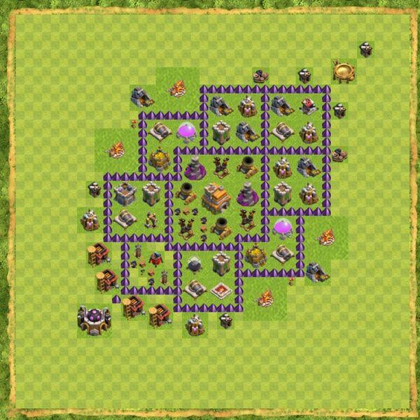 Base Defense Coc Th 7 Terbaru 8