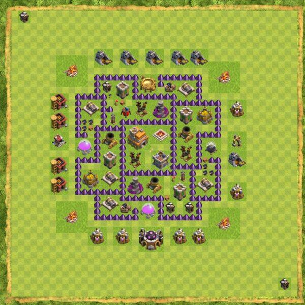 Base War Coc Th 7 Terbaru 15