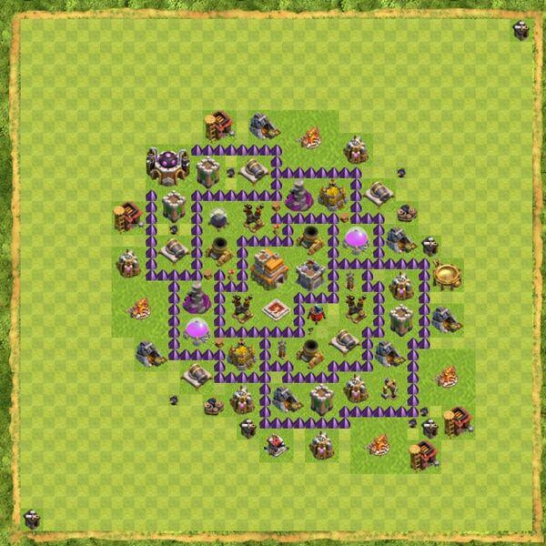 Base War Coc Th 7 Terbaru 16
