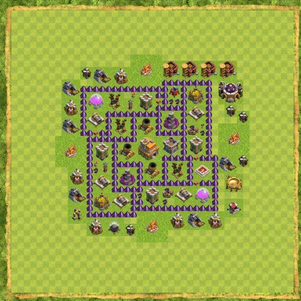 Base War Coc Th 7 Terbaru 7