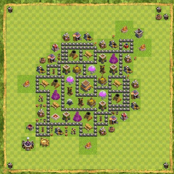 Base Defense Coc Th 8 Terbaru 1