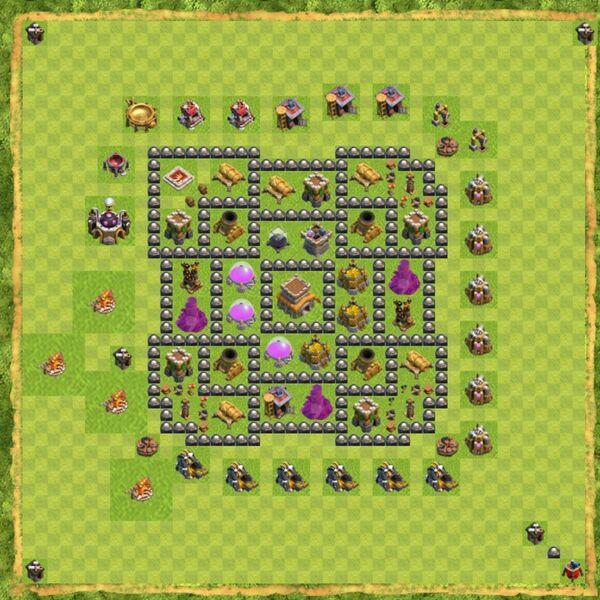Base Defense Coc Th 8 Terbaru 10