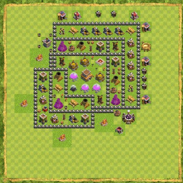 Base Defense Coc Th 8 Terbaru 11