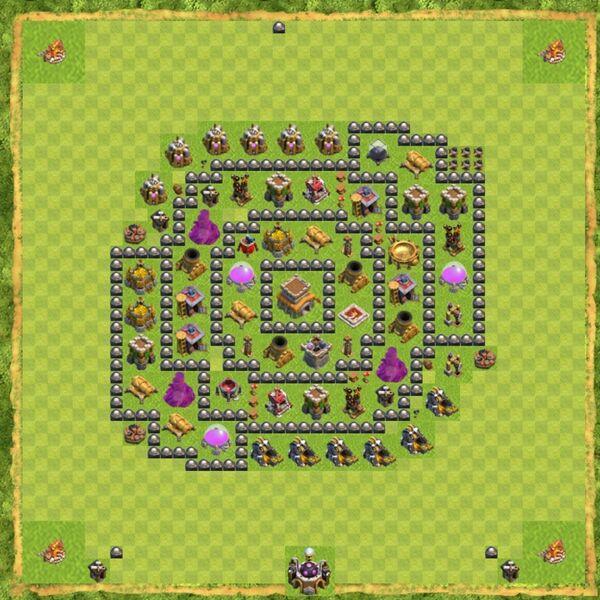 Base Defense Coc Th 8 Terbaru 12