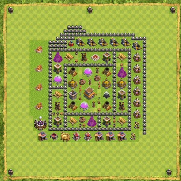Base Defense Coc Th 8 Terbaru 14