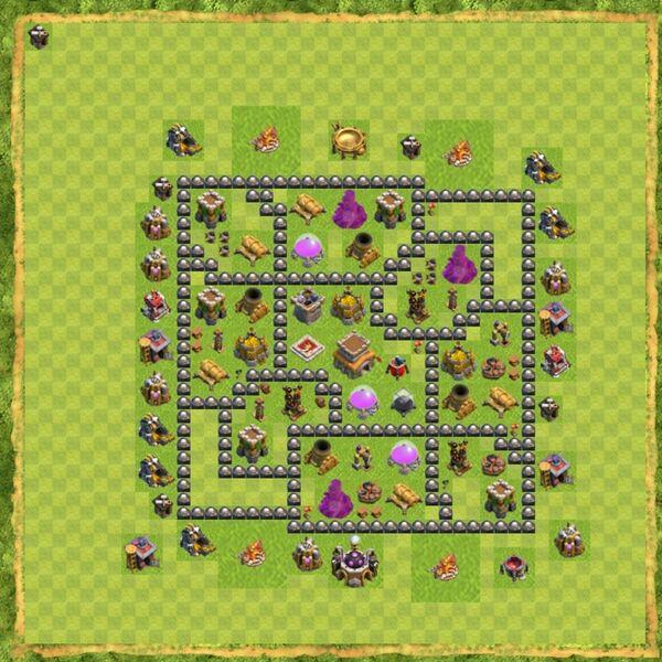 Base Defense Coc Th 8 Terbaru 4