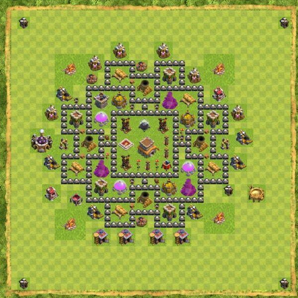 Base Defense Coc Th 8 Terbaru 7