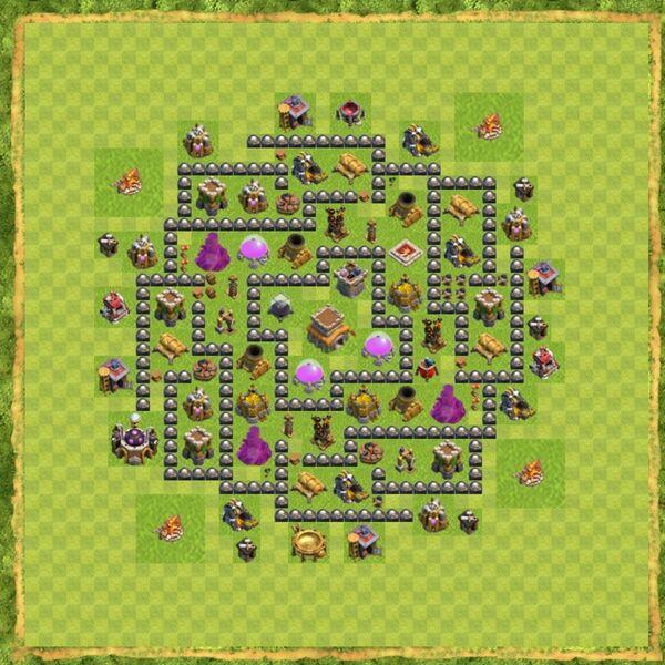 Base Defense Coc Th 8 Terbaru 9