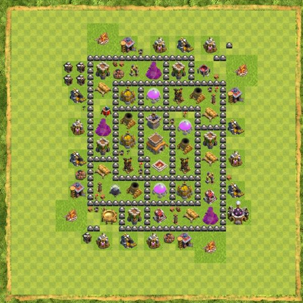Base Hybrid Coc Th 8 Terbaru 10
