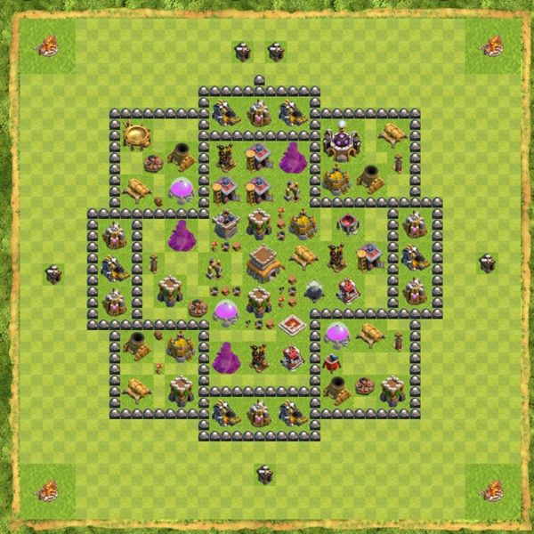 Base Hybrid Coc Th 8 Terbaru 12