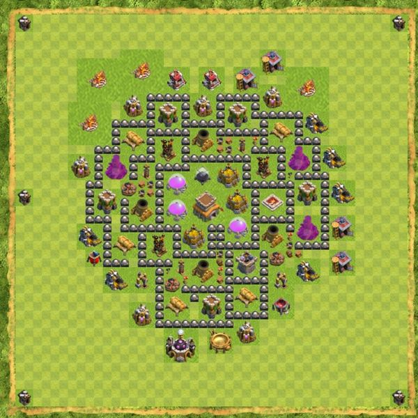 Base Hybrid Coc Th 8 Terbaru 3