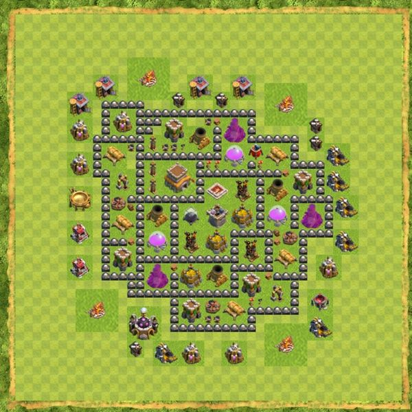 Base Hybrid Coc Th 8 Terbaru 9