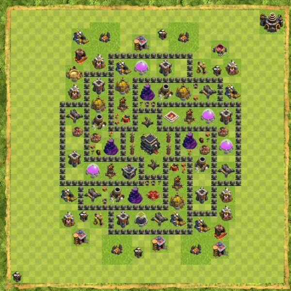 Base Defense Coc Th 9 Terbaru 12