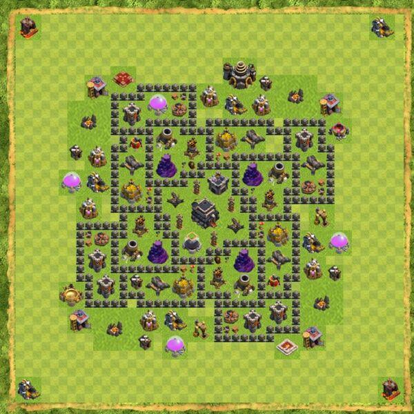 Base Defense Coc Th 9 Terbaru 14