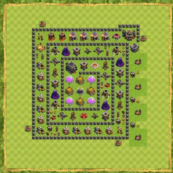 Base Defense Coc Th 9 Terbaru 7