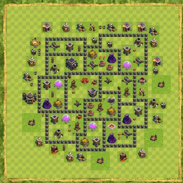 Base War Coc Th 9 Terbaru 6