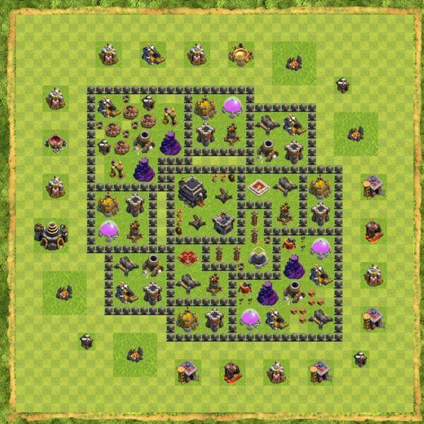 Base War Coc Th 9 Terbaru 7