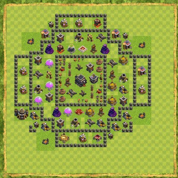 Base War Coc Th 9 Terbaru 8
