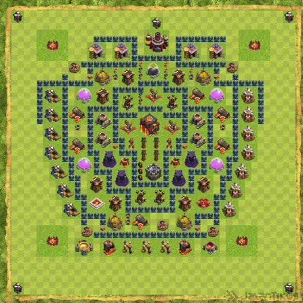 Base Defense Coc Th 10 Terbaru 11