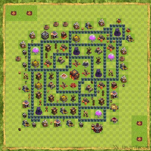 Base Defense Coc Th 10 Terbaru 2