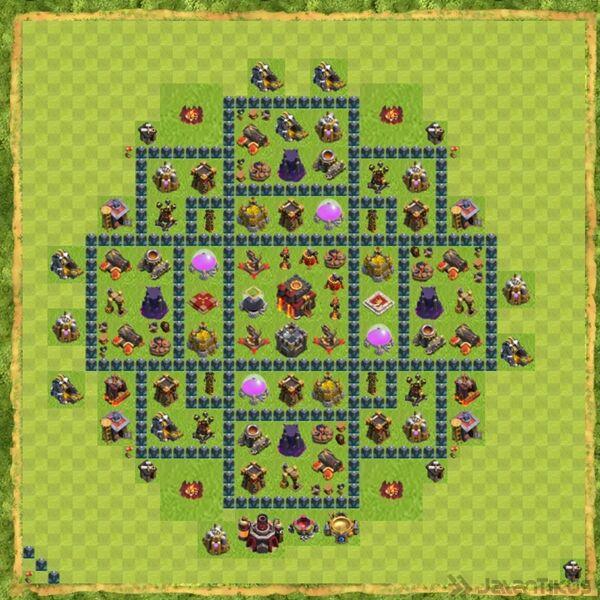 Base Defense Coc Th 10 Terbaru 3