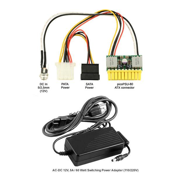 Power Supply PicoPSU 80 60 Watt Adapter C8036