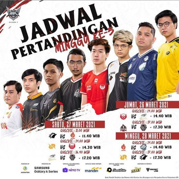 Jadwal MPL Week5 Fb807